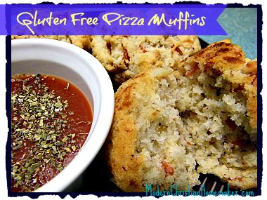 Gluten Free Pizza Muffins!  I bet I can make them grain-free using a mix of coconut flour & almond flour too!