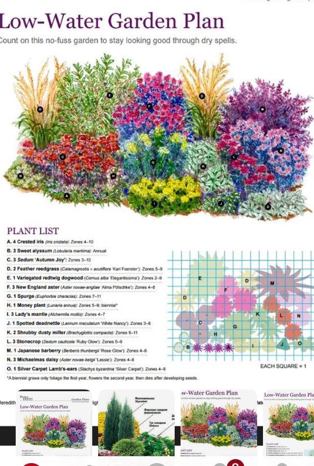 Low Water Garden Plan Flower Garden Plans Garden Planning Flower Garden Design