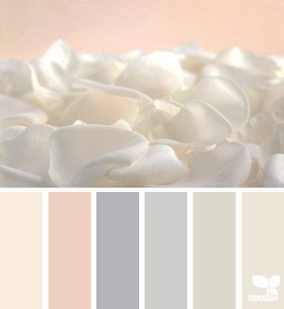 petalled tones - wedding color palette