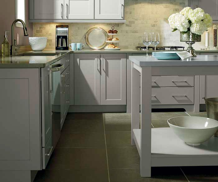 Light Grey Cabinets Enchanting Of Light Grey Kitchen