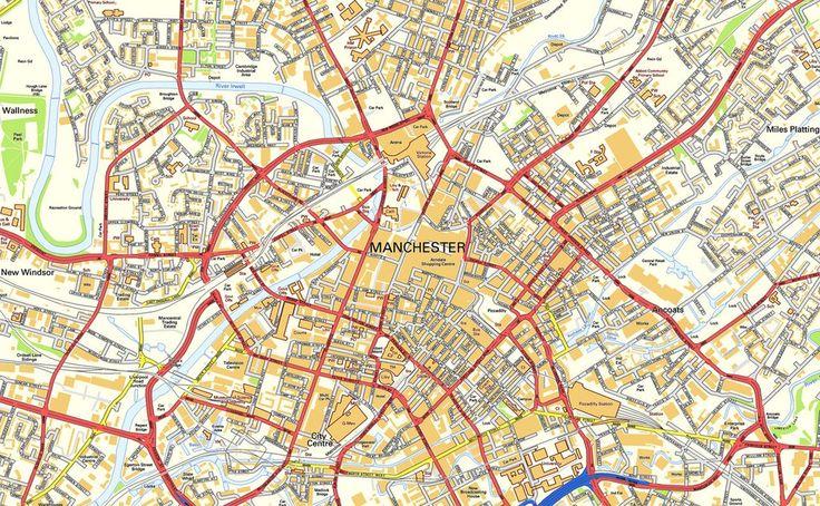 Street map Manchester UK