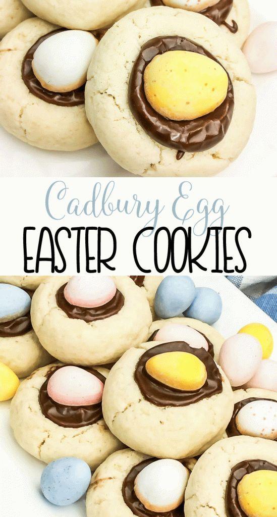 Cadbury Egg Easter Cookies | Spring Cookie Recipe #easter #cookie #cadburyeggs
