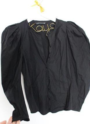 ZARA przepiękna czarna koszula bufki S M