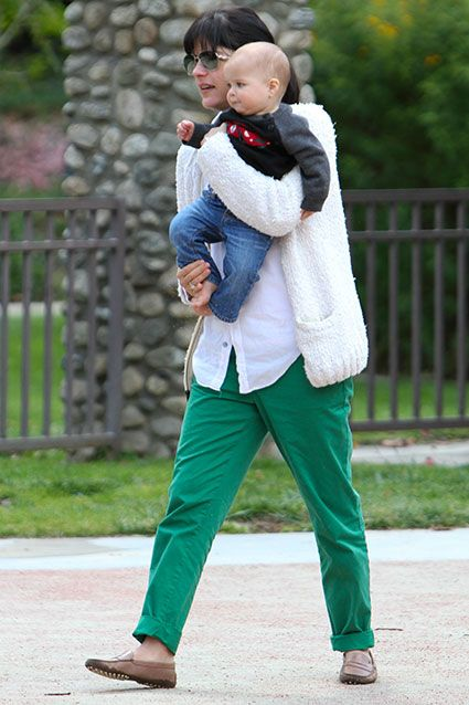 Selma Blair and her husband Jason Bleick spend a day with their son Arthur at a Beverly Hills park on April 14, 2012.