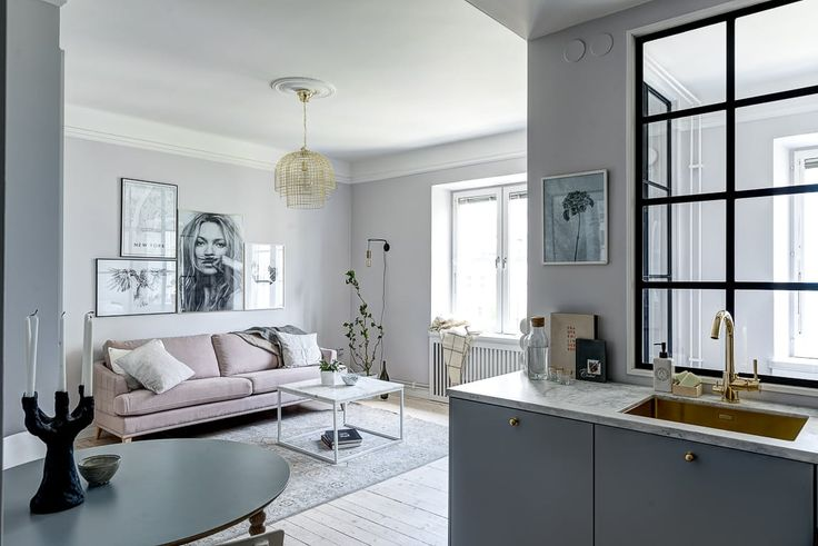 A Tiny Stockholm Apartment Makes the Most of 400 Square Feet