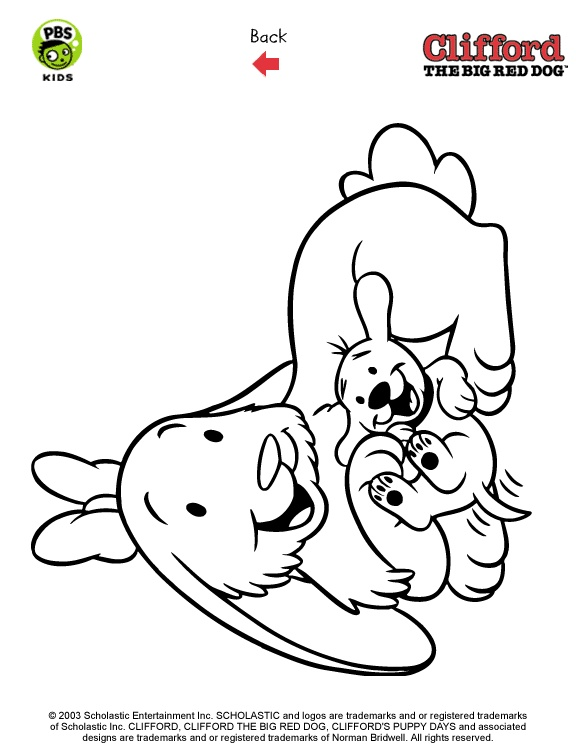 Clifford The Big Red Dog Puppy Coloring Pages | Coloring Page for kids