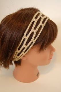Living the Craft Life: Staggered Squares Headband - Free Crochet Pattern