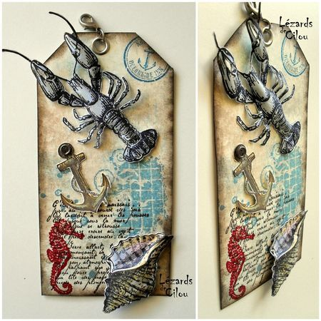 TAG N°29 2013 BLOG, from Cecile Ortiz, Lezards de Cilou. She always has amazing 3D tags on her blog!