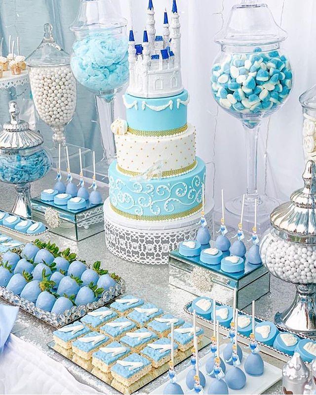 Gorgeous Cinderella Dessert Table Photo By Swttoothbuffets Follow Fondantlo Cinderella Birthday Party Cake Cinderella Birthday Cake Cinderella Cake Pops