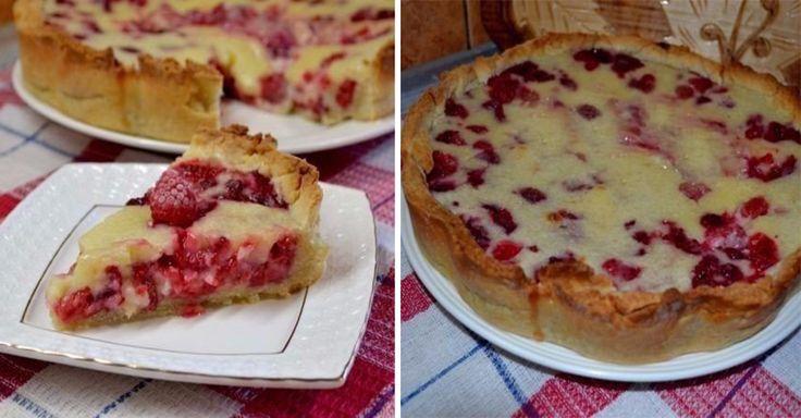 Знаменитый цветаевский пирог с хрустящей песочной основой и королевой ягод – малиной. Десерт, от которого просто невозможно отказаться.