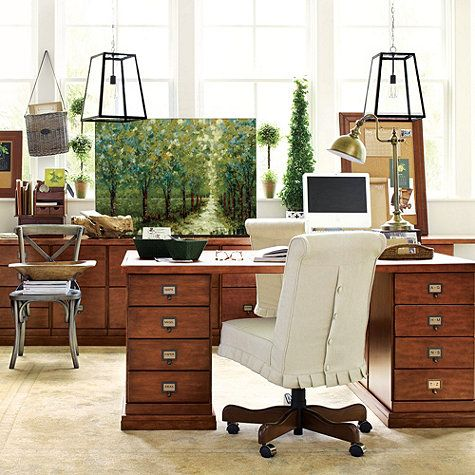 original home office partners desk ballard designs - Ballard Design Desks