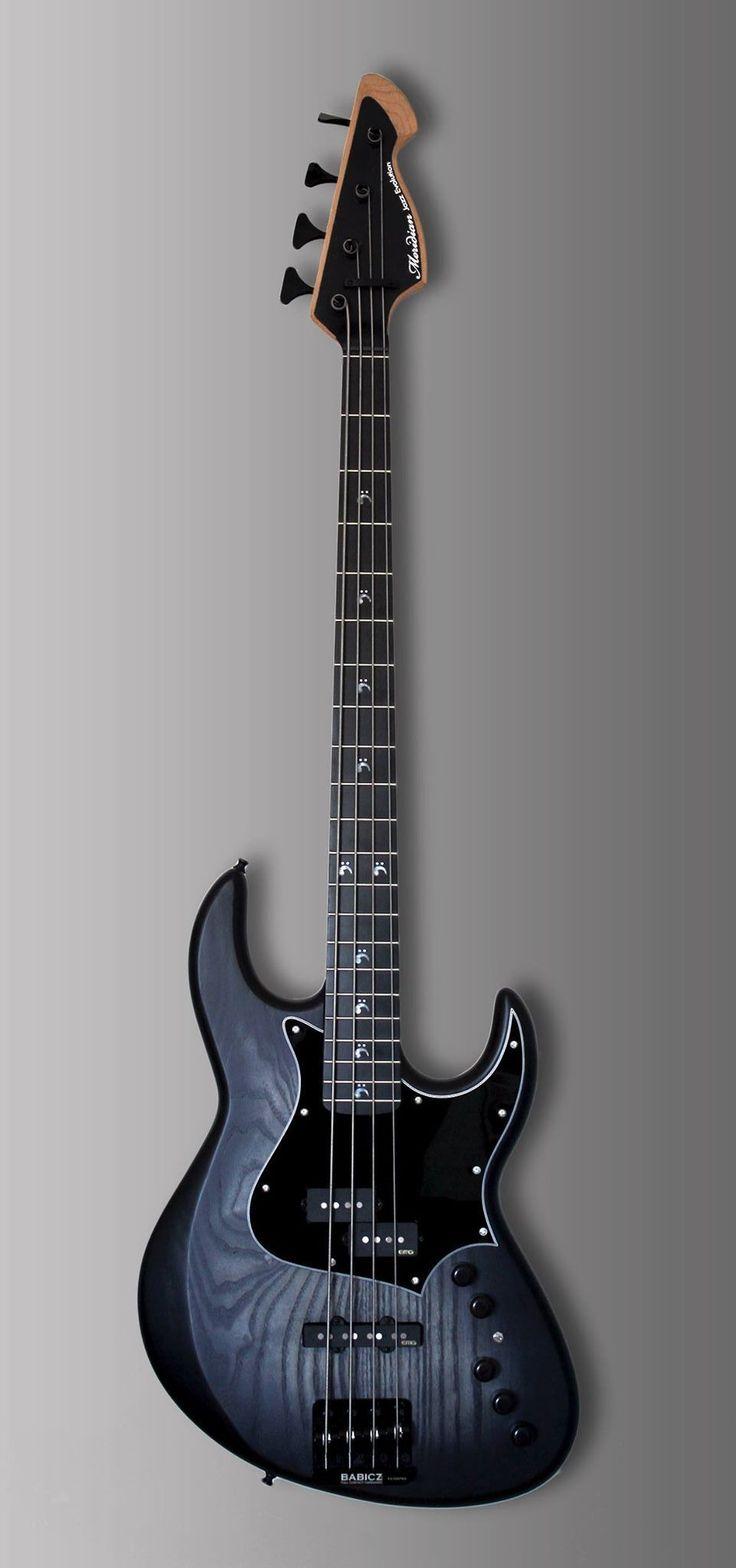 Beautiful #Blue woodgrain MERIDIAN Jazz Evolution four string bass guitar has become a MOST POPULAR RE-PIN - https://www.pinterest.com/DianaDeeOsborne/ddo-most-popular-re-pins/ - RESEARCH #DdO:) - BASSes OF LIFE - https://www.pinterest.com/DianaDeeOsborne/basses-of-life/ - Australian oceanic Mother of Pearl fret markers. Maple neck, ash body. 21 frets, black pickguard. Photo pinned via Sean Stogner. #bassguitar #beautifulguitars