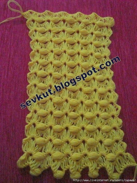 Crochet Stitches Open Work : ... by R. S. on H?kelmuster Openwork / crochet patterns stitches Pi