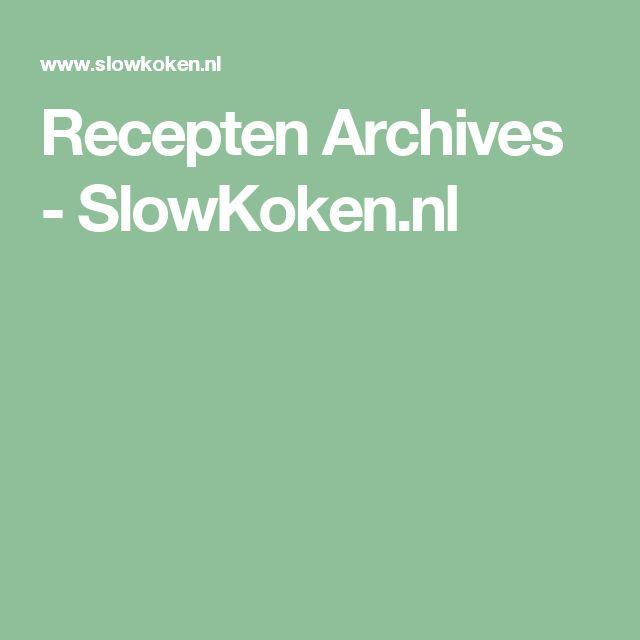 Recepten Archives - SlowKoken.nl