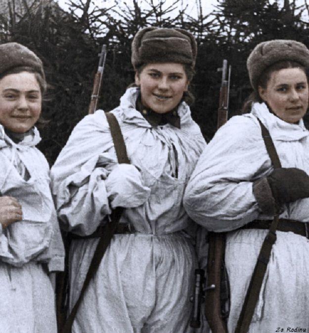 Они сражались за Родину. Не только в международный женский день.. Фото русских героических женщин.