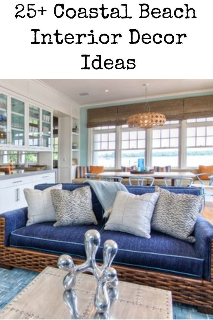 25 Coastal Beach Interior Decor Ideas Blue Sofa And Acc