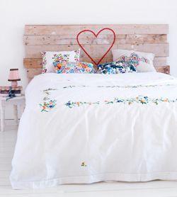 Steigerhouten hoofdbord #slaapkamer #zelfmaker