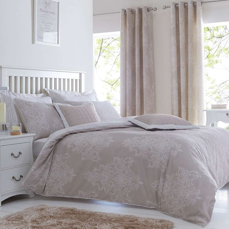 Versailles Natural Duvet Cover & pillowcases £22 | Dunelm