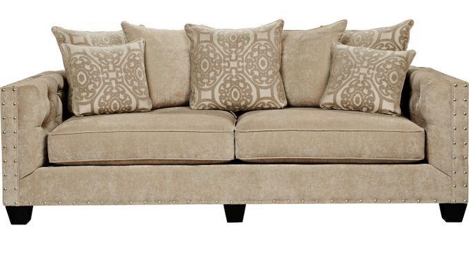 Cindy Crawford Home Taupe Sofa, Cindy Crawford Furniture