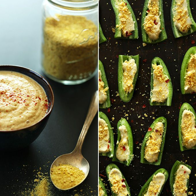 Vegan Jalapeno Poppers! 8 simple ingredients & just 30 minutes to a dairy-free, gluten-free jalapeno popper!