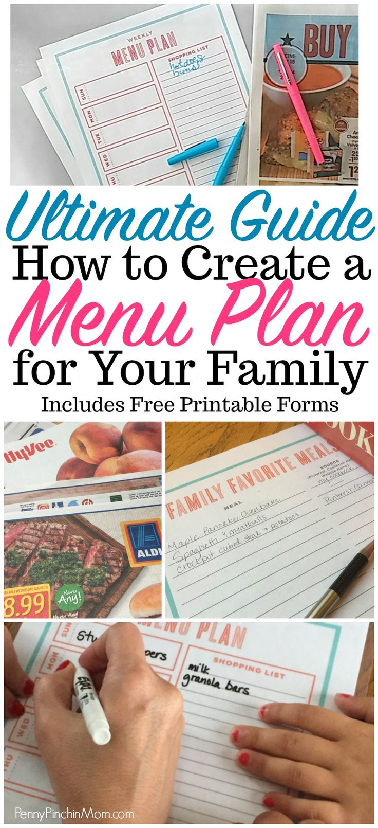 how to create a menu plan for your family  Menu planning forms | help menu planning | how to start with a menu plan