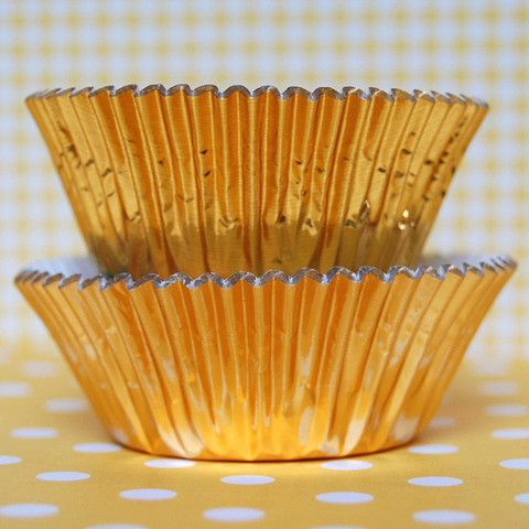 Mini Gold Foil Baking Cups - Layer Cake Shop