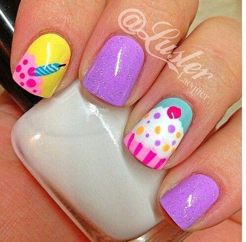 9 birthday nails