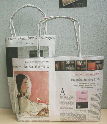 桐子倶楽部 新聞紙でエコバッグを作りましょう。