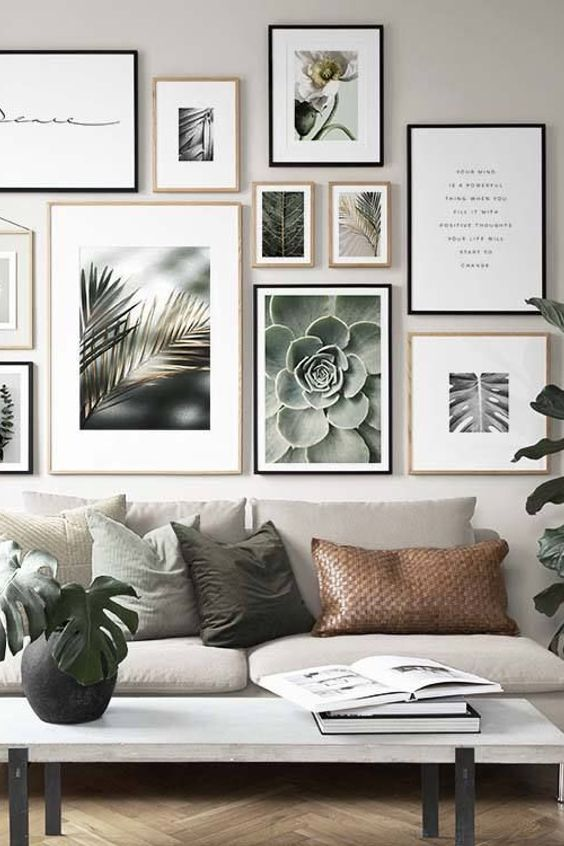 Home Wall Art Furniture Room Living Room Wall Interior Design Couch Couch Picture Frame Table Blac Wall Gallery Living Room Wall Beautiful Living Rooms