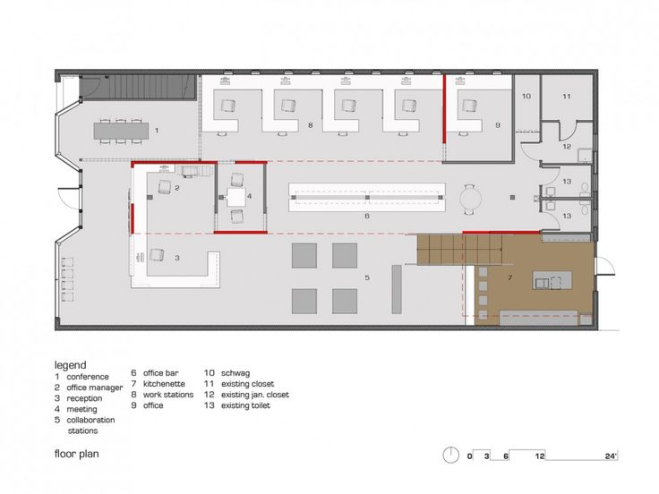 Andys Frozen Custard Home Office / Dake | Design floor ...