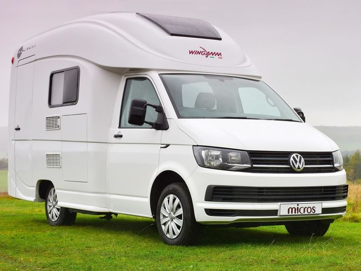 The Practical Motorhome Wingamm Micros Plus Review 1 The Slick Grp Bodyshell Sits Well With The Volkswagen T6 Base Veh Mini Motorhome Motorhome Mini Camper
