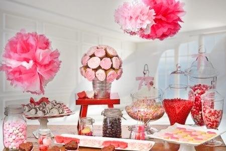 mesa de dulces, decorada