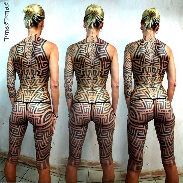 Maori Tribal Tattoos Full Body: 1233 Best Images About Tattoed Girls: Tribal, Maori