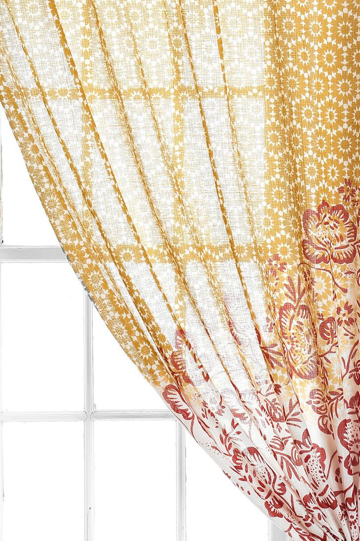 Grayson silver gray jacquard fabric cloth bathroom bath shower curtain - Magical Thinking Floral Cluster Curtain