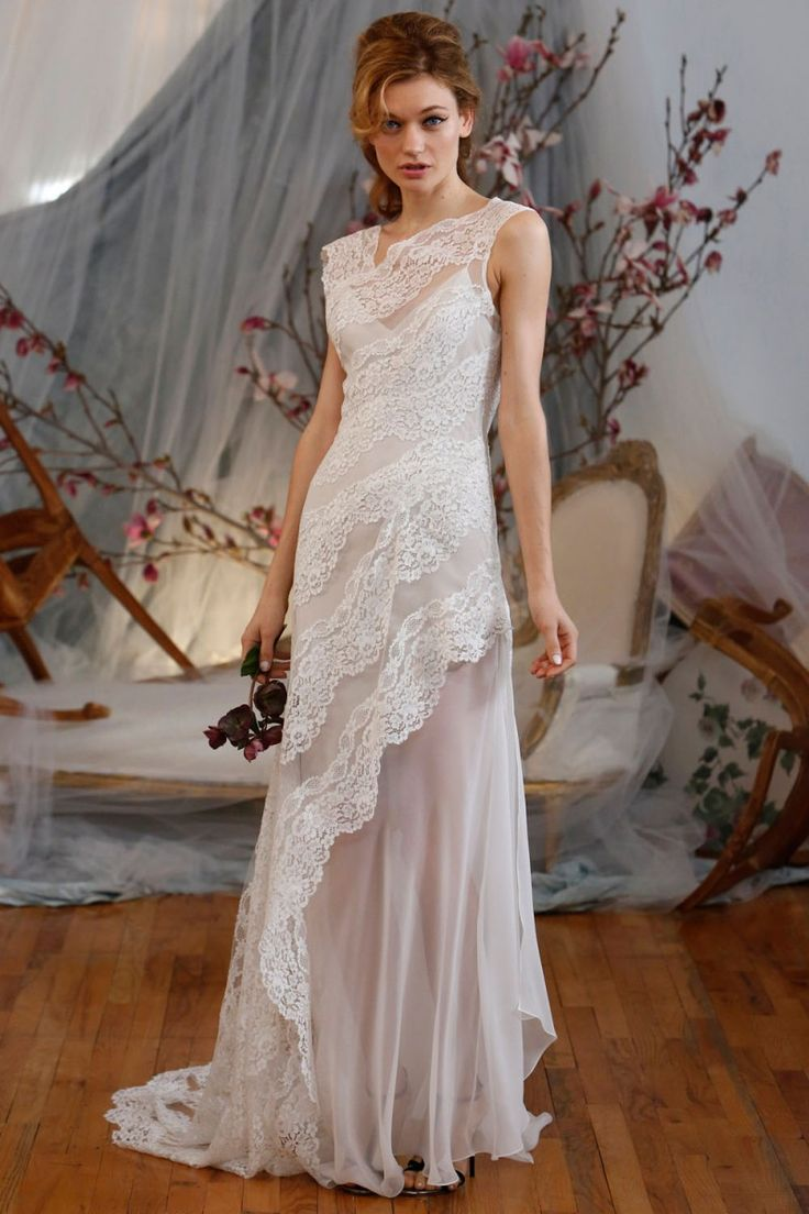 Lovely boho wedding dress from Elizabeth Fillmore's new collection.