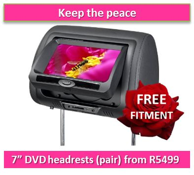 DVD Headrests from R5499