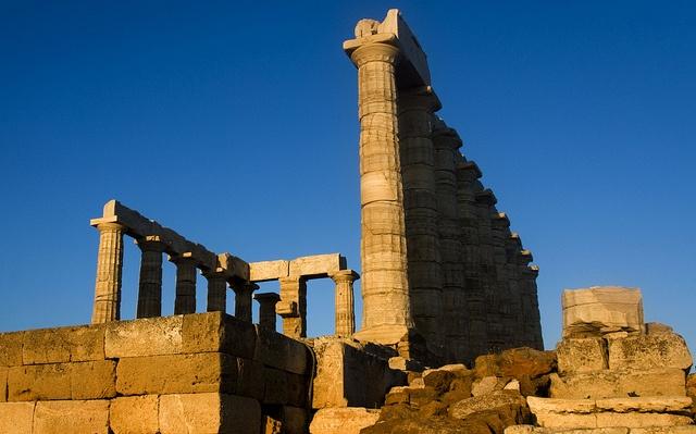 Temple of Poseidon at Sounion Cape (Attica region)