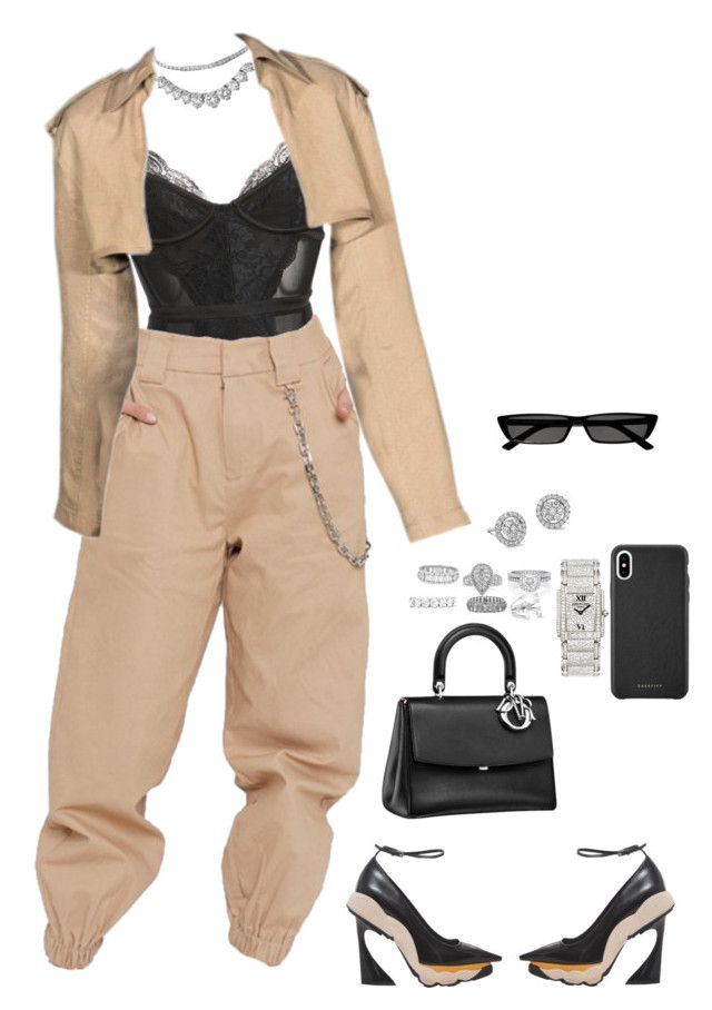 """""""Untitled #4605"""" by mollface ❤ liked on Polyvore featuring Alexander Wang, Raf Simons, Mark Broumand, Van Cleef & Arpels, Monique Lhuillier, Patek Philippe, Balenciaga, De Beers, EWA and Delfina Delettrez"""