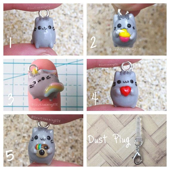 Spend $30+ to get Free Shipping until Thanksgiving. Happy Holidays! Pusheen Charms~ Get a dust plug half off if you purchase it with this charm. *Want a custom keychain to accompany your charm? You can get it with or without handmade letter beads. Choose custom color mixes, etc.