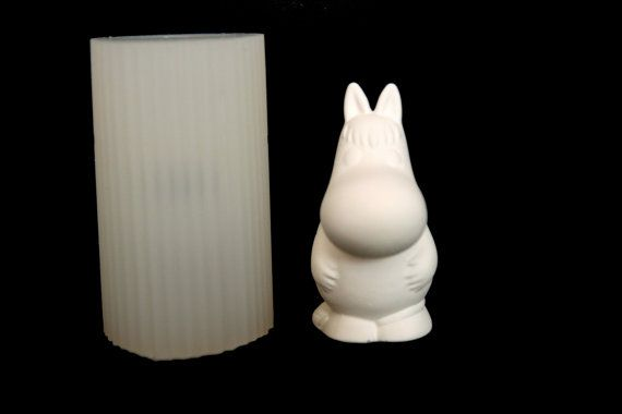 Silicone Candle molds Moomin Candle Soap Moulds Fondant by MOLDB