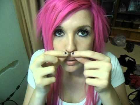hiding facial piercings