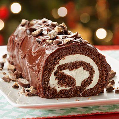 Chocolate Malted Milk Cake Roll Recipe Video