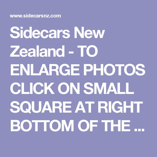 Sidecars New Zealand - TO ENLARGE PHOTOS CLICK ON SMALL SQUAREAT RIGHT BOTTOM OF THE PHOTO========SIDECAR FITTINGS