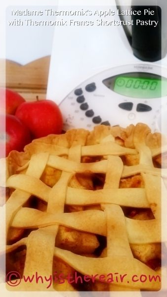 Apple Lattice Pie with Thermomix France Shortcrust Pastry