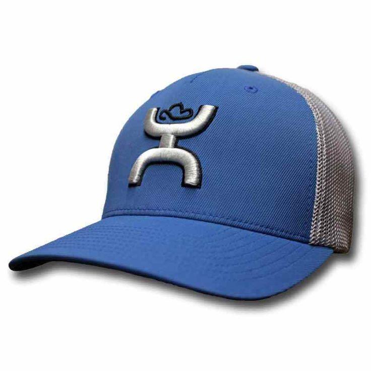 "Hooey Hat Blue & Grey ""Coach"" Flexfit Ball Cap 1704BLGY | Clothing, Shoes & Accessories, Men's Accessories, Hats | eBay!"