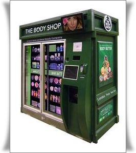 Bath and Body Brought To You Via A Vending Machine: The Body Shop Vending Machine The Body Shop Automated Retail Machines  OH GOOD LORD! *_*
