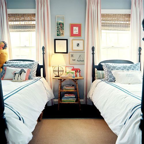 shared room- beds in front of window