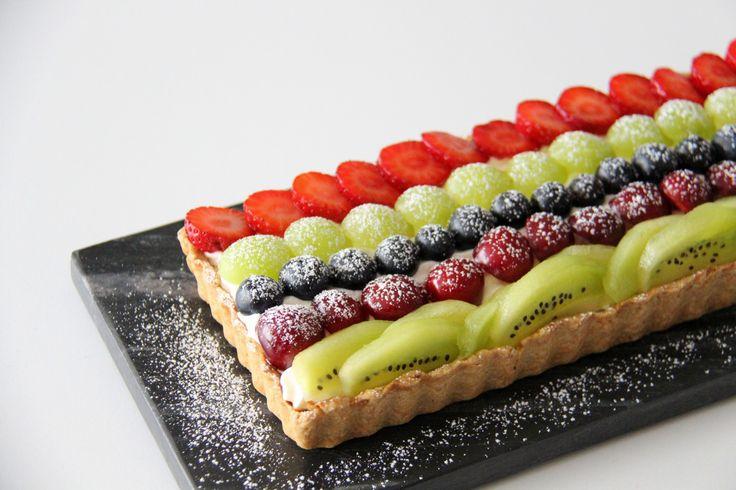 tærte med frugt