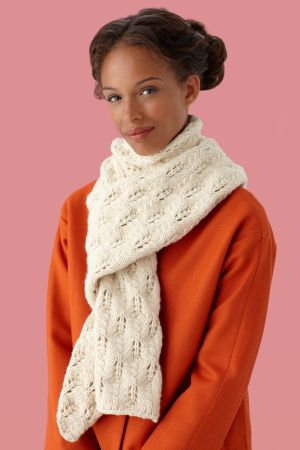free pattern: Knit Scarf Pattern, Knitted Scarfs Patterns, Free Scarf Knitting Patterns, Knit Lace Scarf Pattern, Lion Brand Yarn, Lace Knitting Scarf Patterns, Lace Scarf Knit Patterns, Knit Lace Patterns, Free Knitted Scarf Patterns