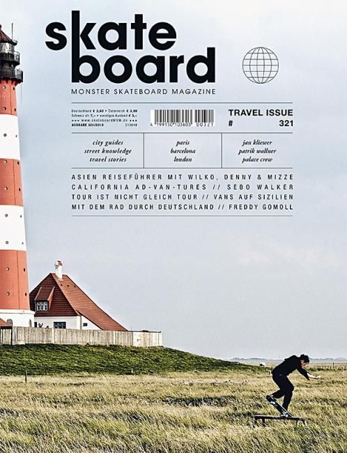 Skateboard (Germany) #magazine #cover #skateboard still-life and rule of thirds. washed out colors and font pretty